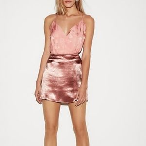 Express Pink Satin skirt